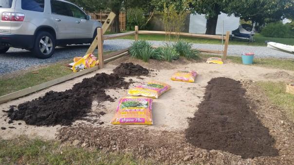 add organic matter to a garden