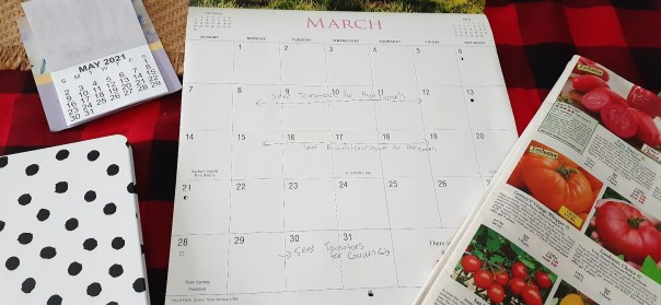 calendar with planting dates
