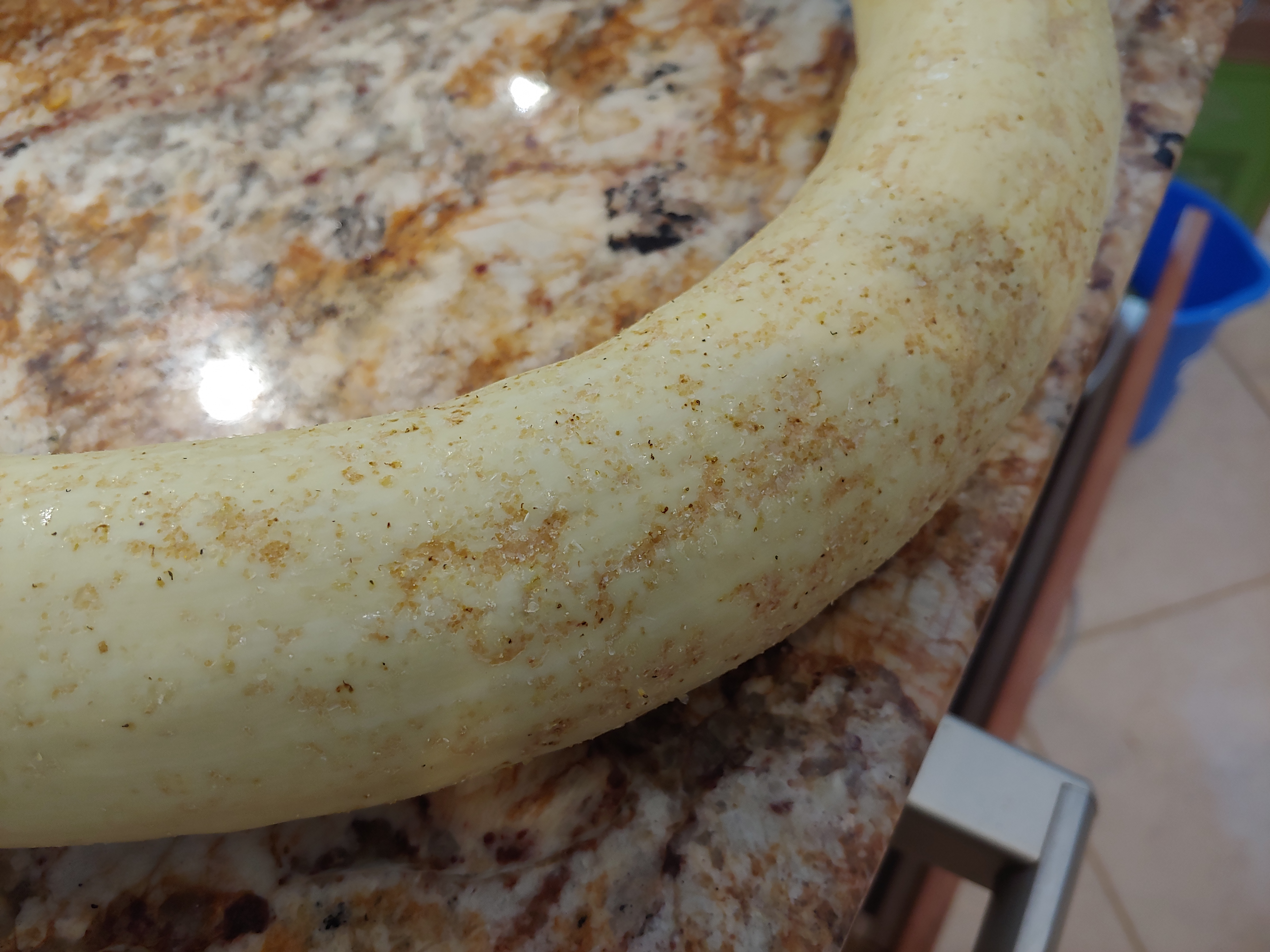 Tromboncino squash with stippling damage